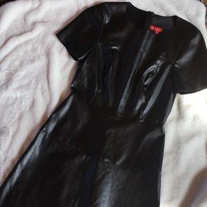 Vegan leather A line dress!